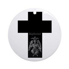 Baphomet Cross Ornament (Round)