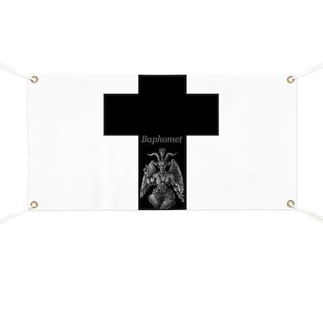 Baphomet Cross Banner