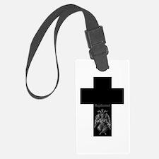 Baphomet Cross Luggage Tag