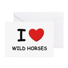 I love wild horses Greeting Cards (Pk of 10)