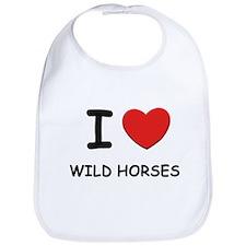 I love wild horses Bib