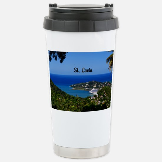 St Lucia 5.5x3.5 Stainless Steel Travel Mug