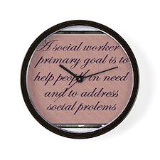 Social work ethics 1 Wall Clock
