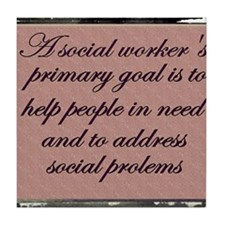 Social work ethics 1 Tile Coaster