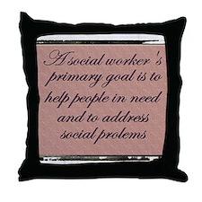 Social work ethics 1 Throw Pillow