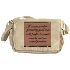 Social work ethics 1 Messenger Bag