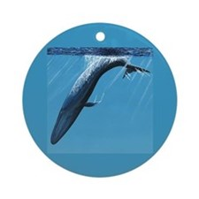 Diving Blue Ornament (Round)