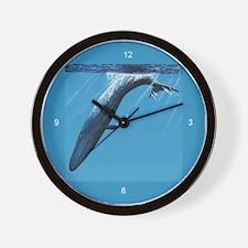 Diving Blue Wall Clock