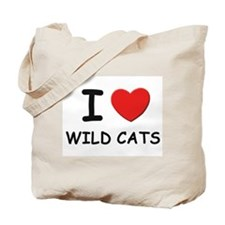 I love wild cats Tote Bag