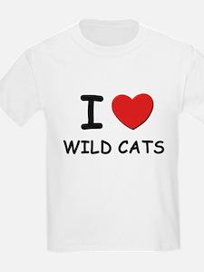 I love wild cats Kids T-Shirt