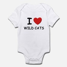 I love wild cats Infant Bodysuit