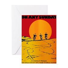 on any sunday Greeting Card