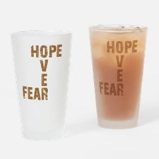 Hope Over Fear Drinking Glass