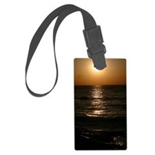 Lighthouse Effect Sunset Luggage Tag