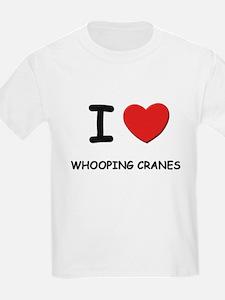 I love whooping cranes Kids T-Shirt