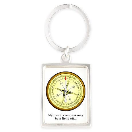 Compass Portrait Keychain