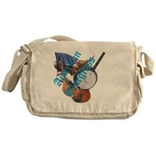 bluegrass full shirt Messenger Bag