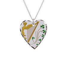 ireland-harp Necklace Heart Charm