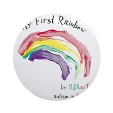 Rainbow_FF Round Ornament