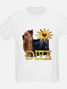 Yorkshire terrier diva Kids T-Shirt