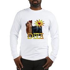 Yorkshire terrier diva Long Sleeve T-Shirt