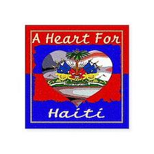 """A Heart For Haiti Square Sticker 3"""" x 3"""""""
