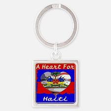 A Heart For Haiti Square Keychain