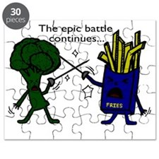 Broccoli vs Fries2 Puzzle