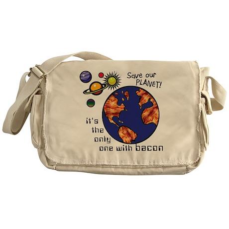 bacon-environmentalist Messenger Bag