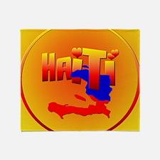 HAITI LOVE-Circled Throw Blanket