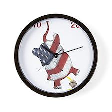 10x10 2010  2012 Elephant Cartoon Obama Wall Clock