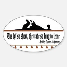 The lyf so short Oval Decal