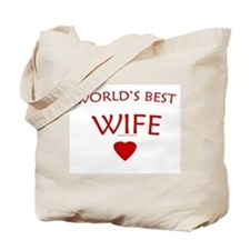 World's Best Wife (Heart) - Tote Bag