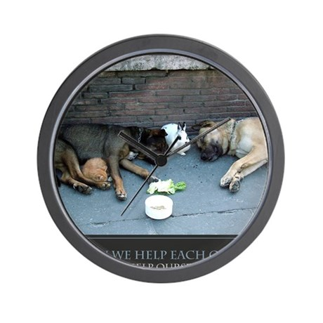 When We Help Each Other We Help Ourselv Wall Clock