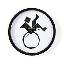 BJ cafe press logo_large Wall Clock