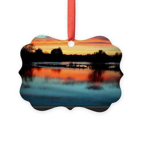I Am Grateful print Picture Ornament