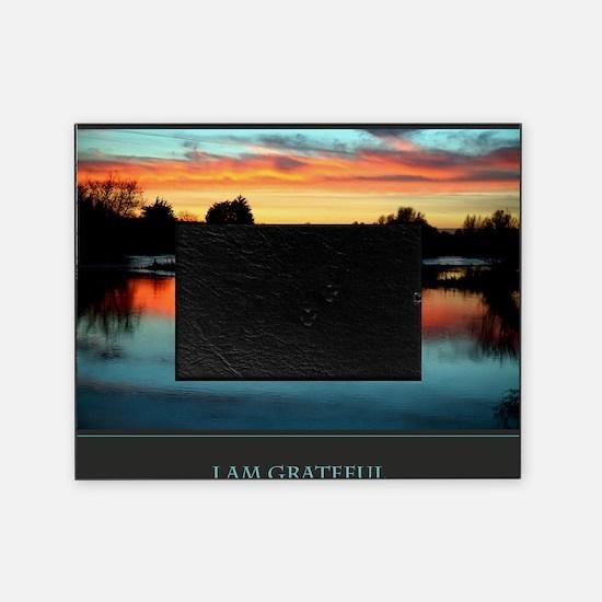 I Am Grateful print Picture Frame