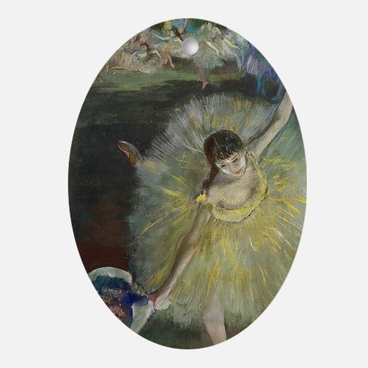 End of an Arabesque by Edgar Degas Oval Ornament