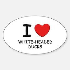 I love white-headed ducks Oval Decal