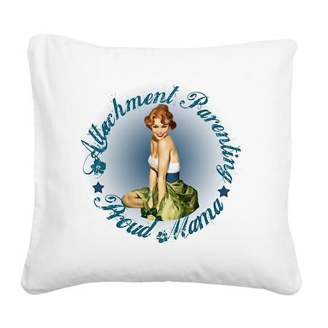 Breastfeeding Mama3 Square Canvas Pillow