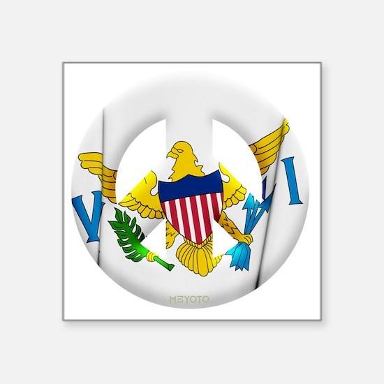 "US Virgin Islands Square Sticker 3"" x 3"""