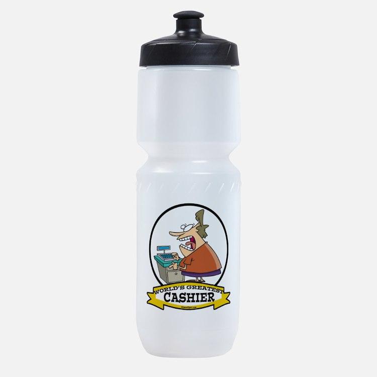 WORLDS GREATEST CASHIER CARTOON.png Sports Bottle