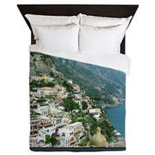 I Visualize What I Want Positano Italy Queen Duvet