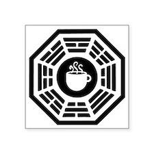 """dharma coffee station Square Sticker 3"""" x 3"""""""