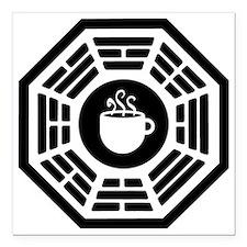 """dharma coffee station Square Car Magnet 3"""" x 3"""""""