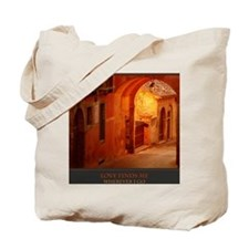 Love Finds Me Wherever I Go print Tote Bag