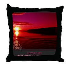 I Love Life print Throw Pillow