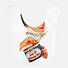 can of whoop ass retro lady Bib