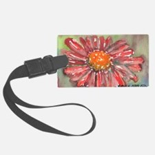 Red Daisy Luggage Tag