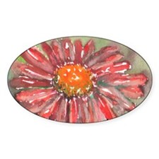 Red Daisy Decal